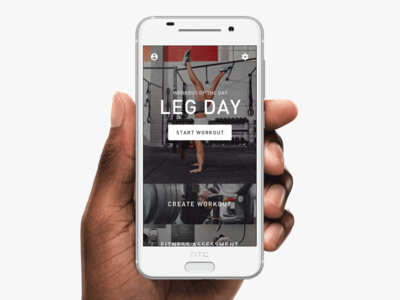 Fitness App modern clean workout gym fit android app ux ui interface experience design