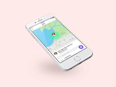 Life360 Profile ui ux mobile map location ios interface app