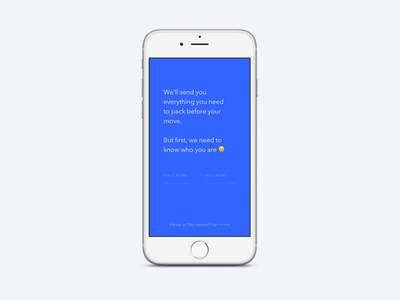 Onboarding for Otto mobile ios ux welcome screen form ui app
