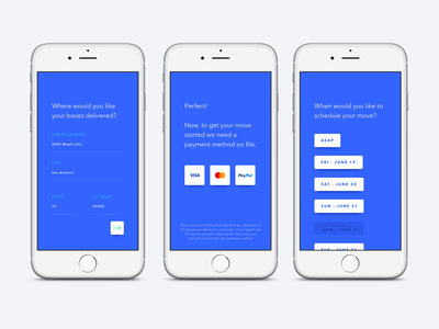 Otto first user experience validation scheduling form apple ios mobile app ui ux first user experience fue