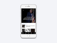NPR News refresh trump 😞 feed application news app ios