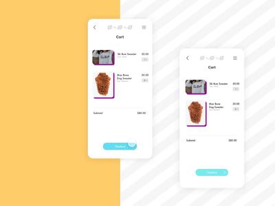 Daily Challenge: E-commerce Checkout ecommerce mobile app ux design ui design premiere pro adobe xd adobe