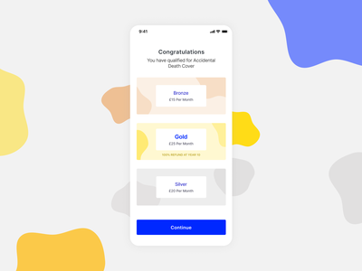 Subscribe screen. Insurance app. ux subscribe ios ui insurance app insurance