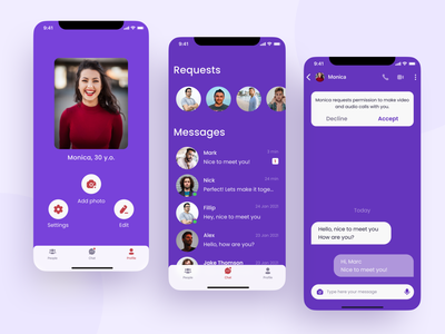 Dating App message app chat screen chat app tinder app design ios app dating app social app