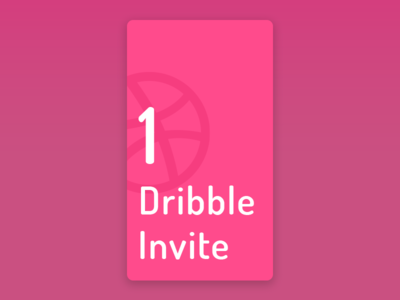 One Dribbble Invite pink give away giveaway newplayer invitation dribbbleinvitation dribbbleinvite dribbble