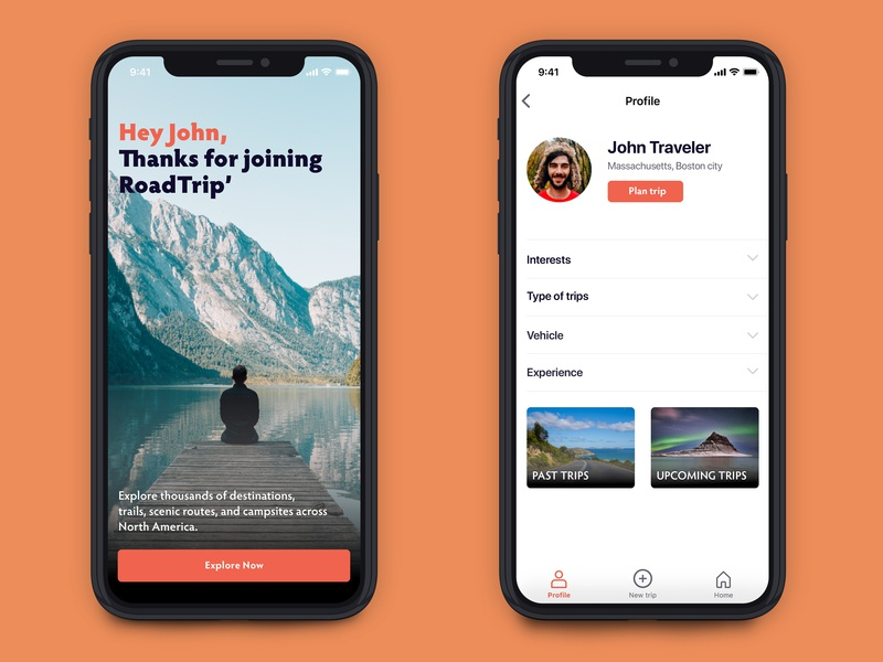 Road Trip app дизайн app sketch ios travel trip road