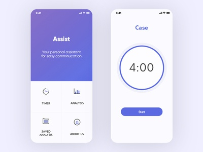 Assistant app debate home screen time timer interface blue дизайн приложения ux design dribbble app дизайн ux ios sketch ui