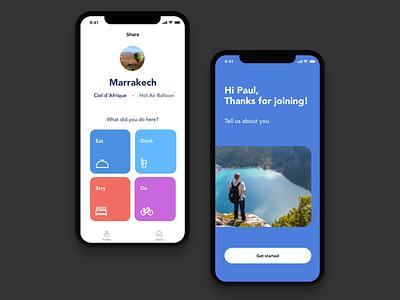 Travel app UI design ux design ui design ui minimalistic ios trip travel app traveling travel