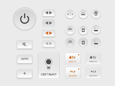 Skeuomorphic Smart Home elements skeuomorphism skeuomorph interface ux design smart ipad ios ui smart home