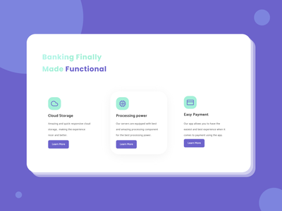 Fun And Nice - Functional clean flat ui design landing page design madebyjibrily adobe xd design flatdesign minimal hero section web webdesign modern banking banking website banking dashboard card bank card card design finance financial