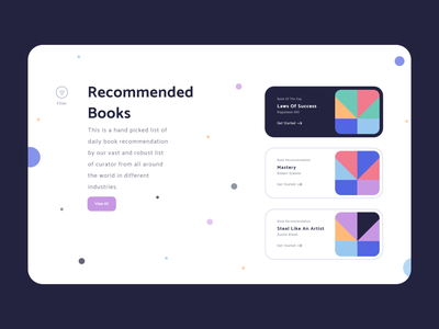 Read With Peace Of Mind - Light Mode illustration reading list reading reading app colors handz adobe 3d art render blender 3d uidesign 3d illustration ux design clean ui landing page design webdesign madebyjibrily