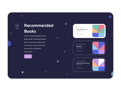Read With Peace Of Mind - Dark Mode illustration reading list reading reading app colors handz adobe 3d art render blender 3d uidesign 3d illustration ux design clean ui landing page design webdesign madebyjibrily
