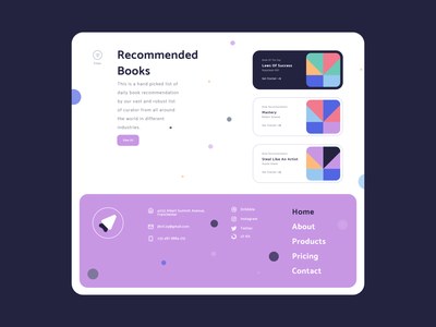 Read With Peace Of Mind 01 - Dark Mode illustration reading list reading reading app colors handz adobe 3d art render blender 3d uidesign 3d illustration ux design clean ui landing page design webdesign madebyjibrily