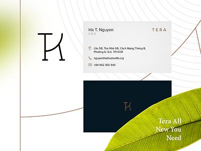 Tera - Logo estate real leaf graphic ui logo