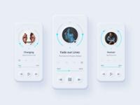Music player app web typography design ux ui