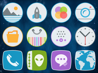 Icons for Android mobile theme.