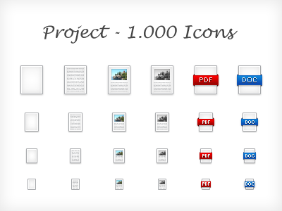 Pixel Perfect Icons (48px, 32px, 24px, 16px) icons set 48px 32px 24px 16px document paper picture pdf doc pixel perfect web desctopm tablet mobile android ios iphone
