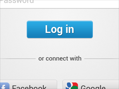 Android Log in Screen