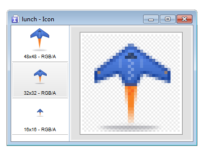 Launch Icon, 48px 32px 16px