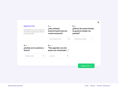 Book Visit / Agendar Cita beautiful ui desktop clean webdesign minimalism form design purple ux