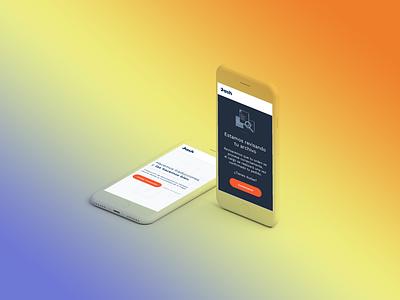 Dash Mobile — Translations 🌐 smartphone responsive mobile world translation translate orange languages landing study case blue