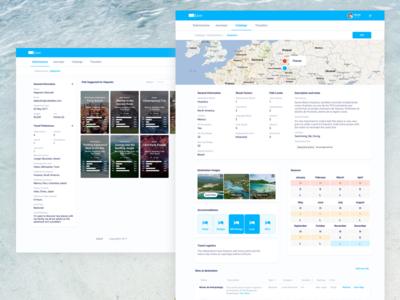 Travel and Adventure ✈️🏝 - Admin vacation travel proposal landing jubel custom blue adventure