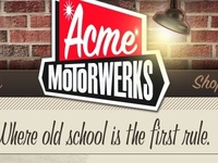 Acme Motorwerks identity and interactive