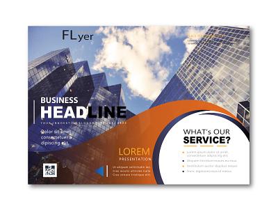Digital Flyer banner advertising postcard flyer design flyer template typography design branding simple illustration digital flyer
