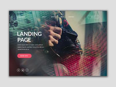 landing page design graphic design web page design web portfolio web design landing page design