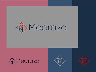 Medraza Logo presentation icon minimalist logo branding brand mark typography logotype illustration logo design flat logo design simple brand identity