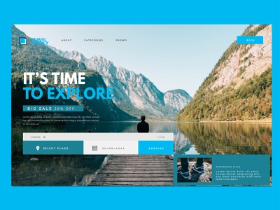 Travel agency landing page travel agency photography typography ui ux icon logotype design simple graphic  design landing page web design