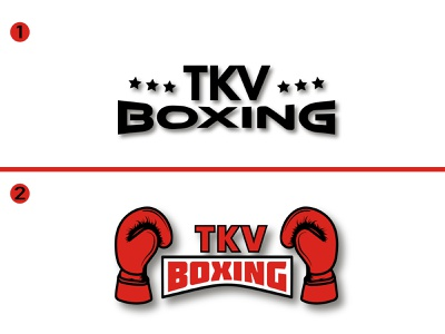 TKV boxing logos simple logo logotype