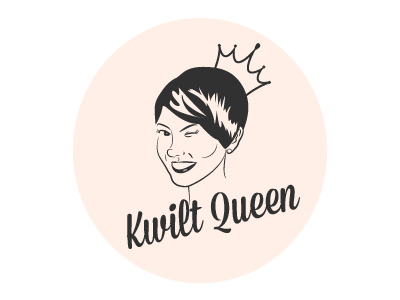 Kwilt Queen Logo branding logo graphic design illustration