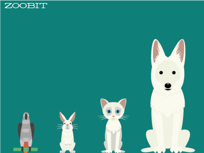 Zoobit Family character design illustration animals pets