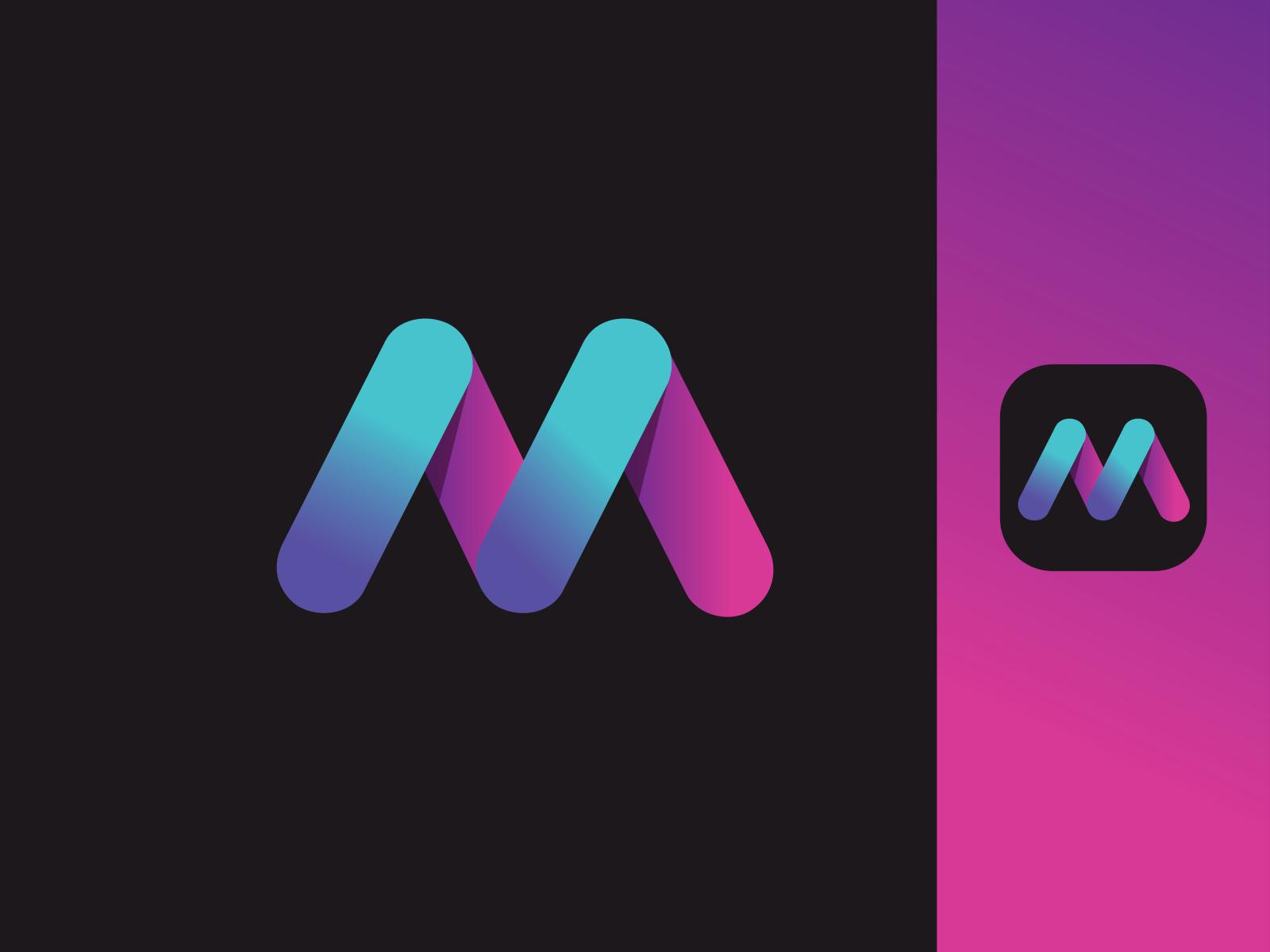 Letter M App Logo By Freelancer Saiful On Dribbble