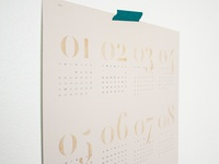 Watercolor Numbers Calendar