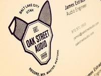 Oak Street Audio Logo on Business cards