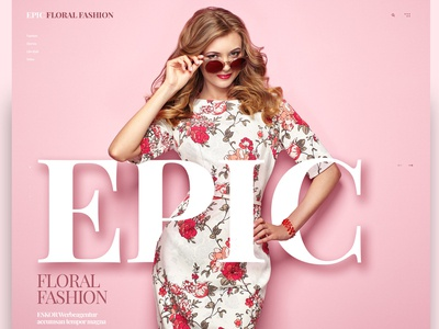 Floral Fashion Landingpage