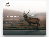 Oh my deer - landingpage