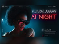Sunglasses at Night Landingpage