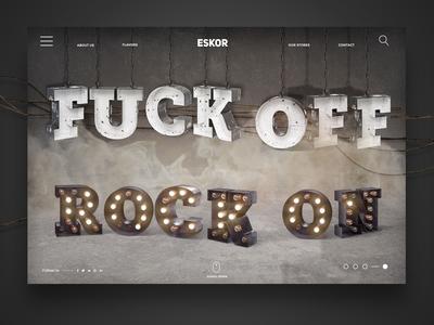 fuck off - rock on - landingpage