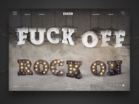 fuck off - rock on - landingpage