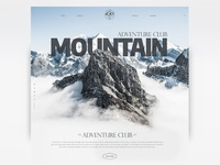 Mountain - Adventure Club Landing Page