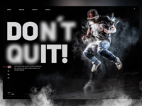Do it - Don't quit 😎🕺🏼landingpage