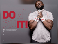 Do it - Don't quit 🥊Landingpage
