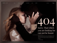 "404 Error page design ​ ""Perfect Lover"" - Sorry. That which you"