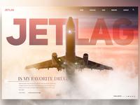 Jetlag is my favorite drug landingpage