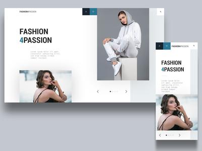 fashion4passion landingpage