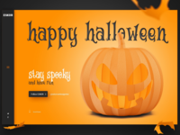 "Desktop Landing Page ""Happy Halloween"" 🎃🦇🕷️👻"