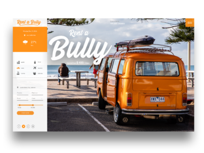 Travel - Car Rent Website design screendesign landingpage ux ui bully bulli rent travel webdesign